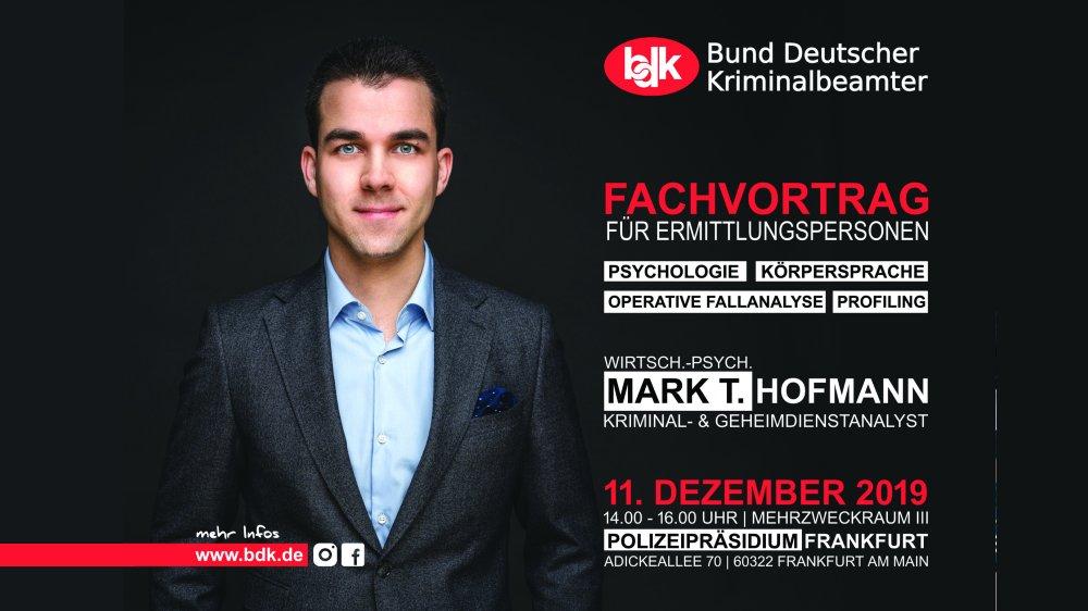 Mark T. Hofmann Fachvortrag Polizei Frankfurt - Operative Fallanalyse