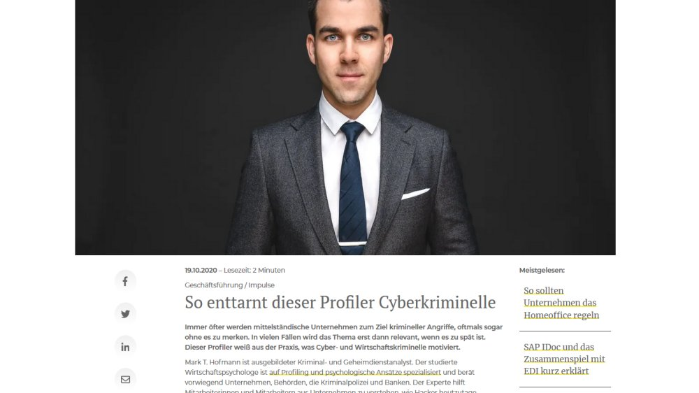 Profiler Cybercrime Hacker Psychology